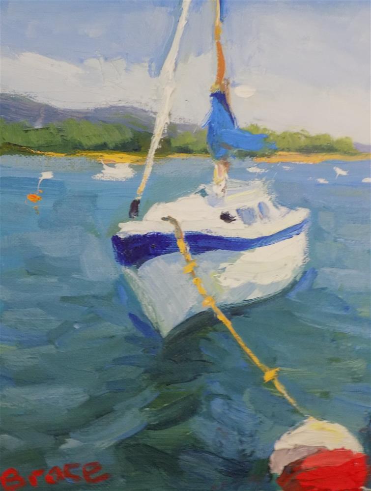 """""""Tide UP In Maine"""" original fine art by Rita Brace"""