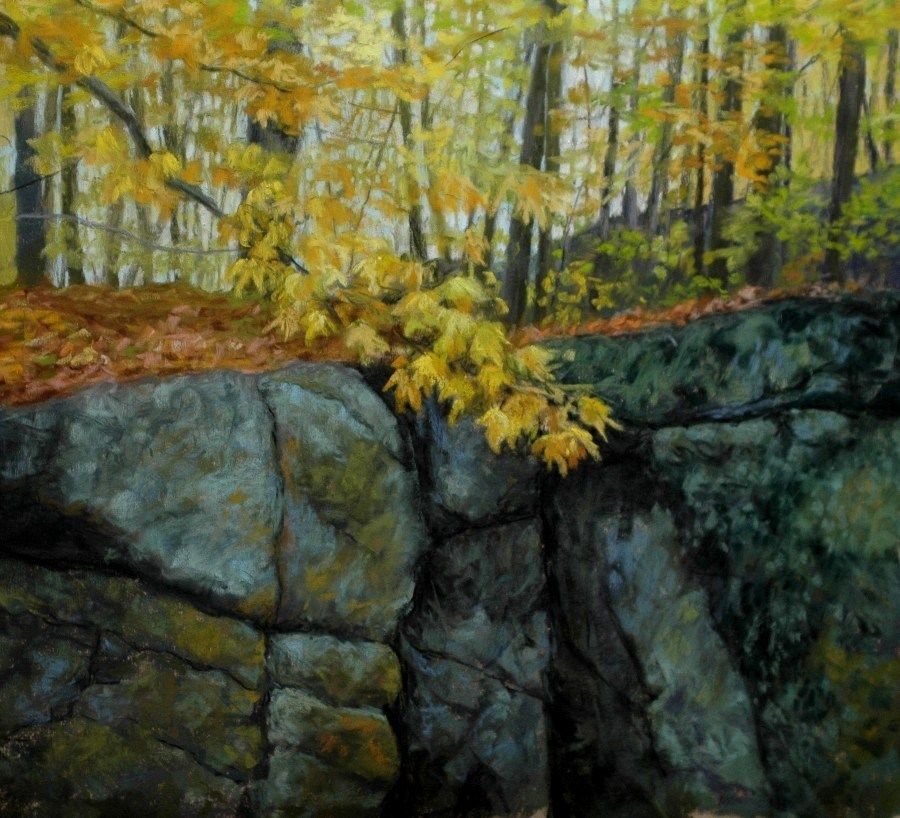 """On Top of Rib Mountain"" original fine art by Susan Klabak"