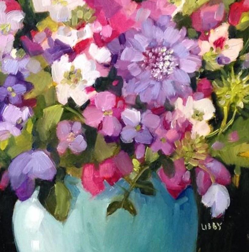 """Deep Purple"" original fine art by Libby Anderson"