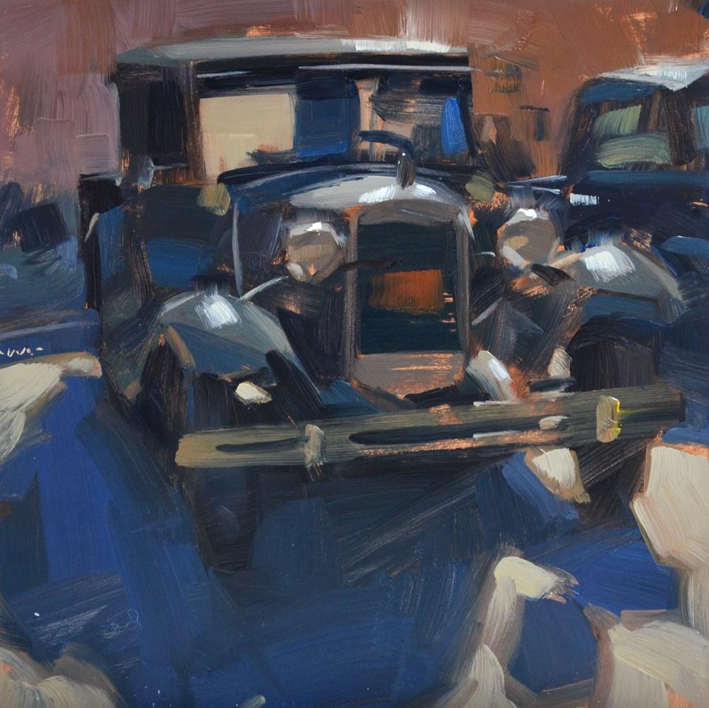 """History on Wheels"" original fine art by Carol Marine"