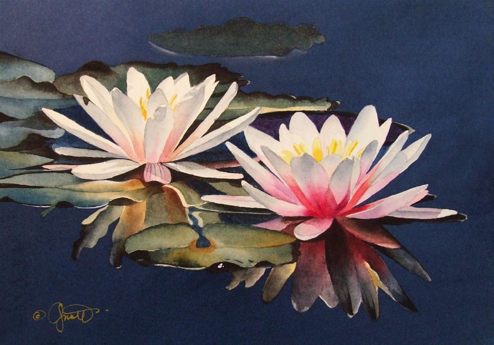 """Floating Friends"" original fine art by Jacqueline Gnott, whs"