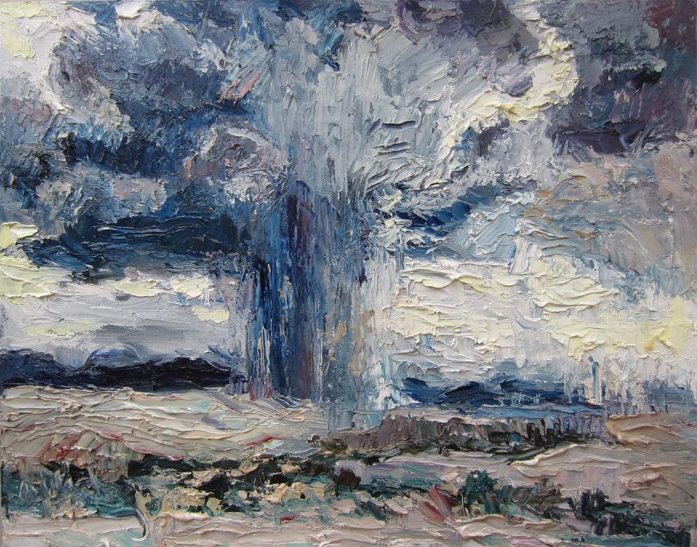 """White Sands Desert Storm"" original fine art by Carol Steinberg"