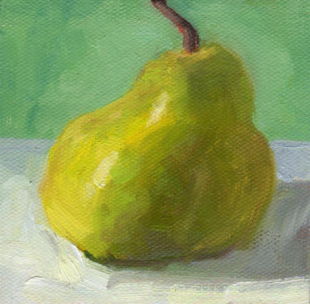 """""""Lumpy Pear"""" original fine art by Marlene Lee"""