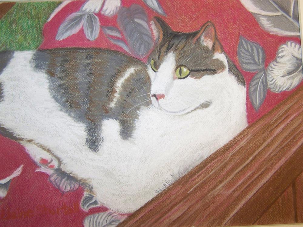 """""""Rudy Relaxing"""" original fine art by Elaine Shortall"""