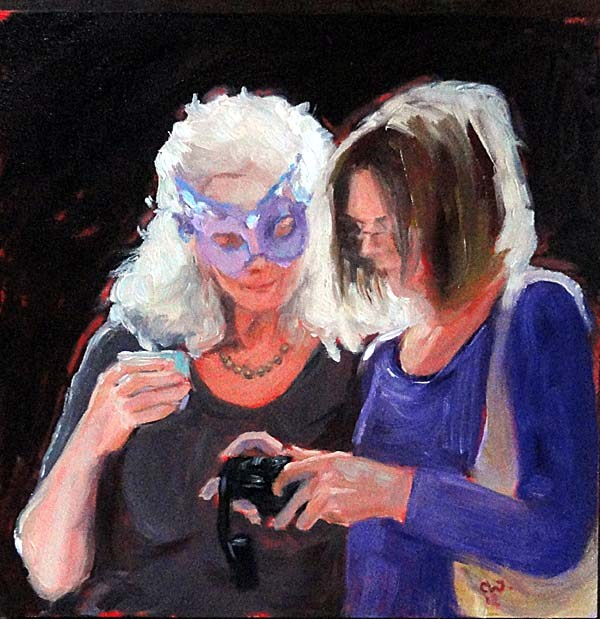 """The New Mask"" original fine art by Cietha Wilson"
