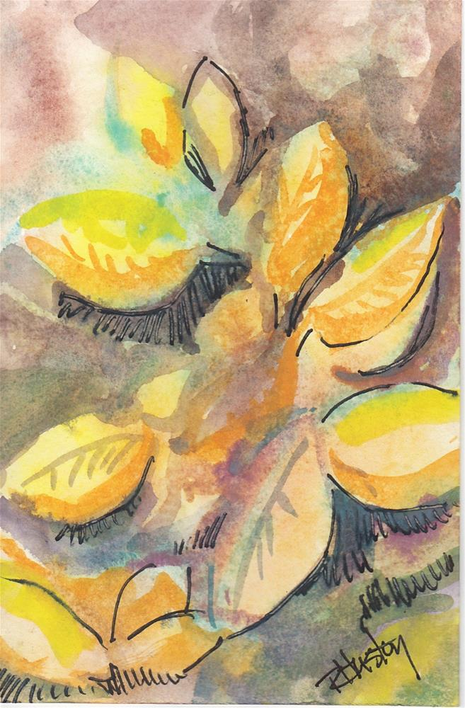"""Botanical Garden 26… Florida Sunshine Anise"" original fine art by Richard Huston"