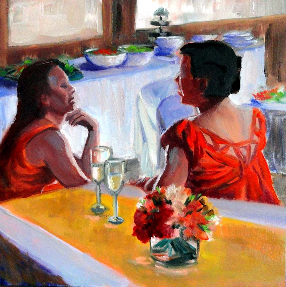 """Party Girls"" original fine art by Cietha Wilson"
