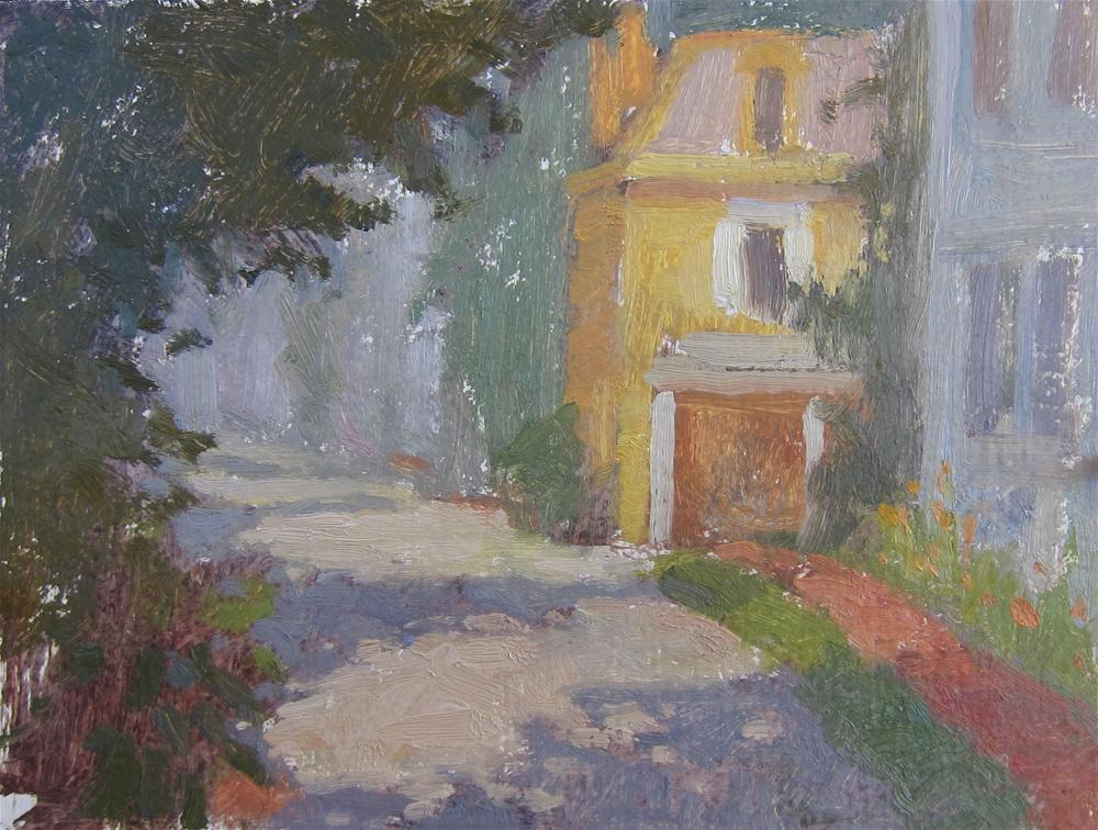 """Oxford Morning"" original fine art by Eden Compton"
