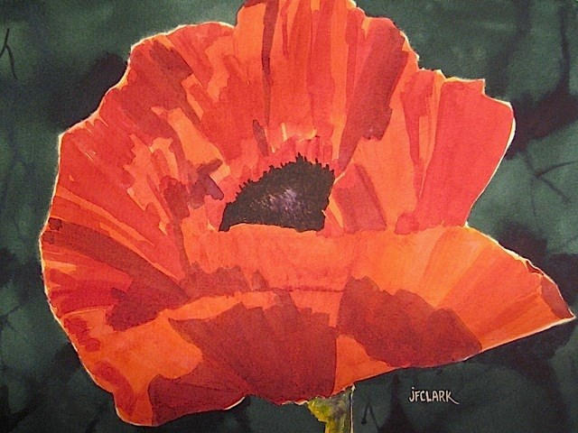 """Big Poppy"" original fine art by Judith Freeman Clark"