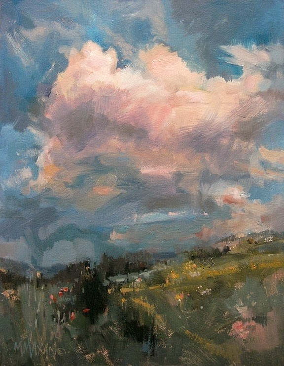 """""""In The Pink"""" original fine art by Mary Maxam"""