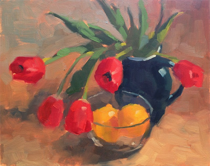 """Last Tulips"" original fine art by Katia Kyte"