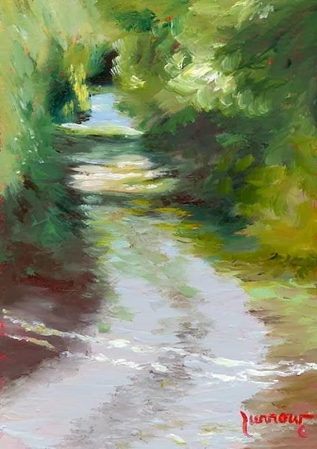 """Day 20   Alley #1 "" original fine art by Sue Furrow"