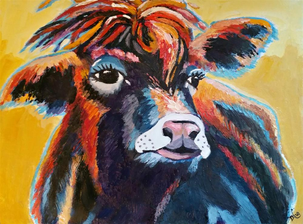 """Thelma the Cow"" original fine art by Dana C"
