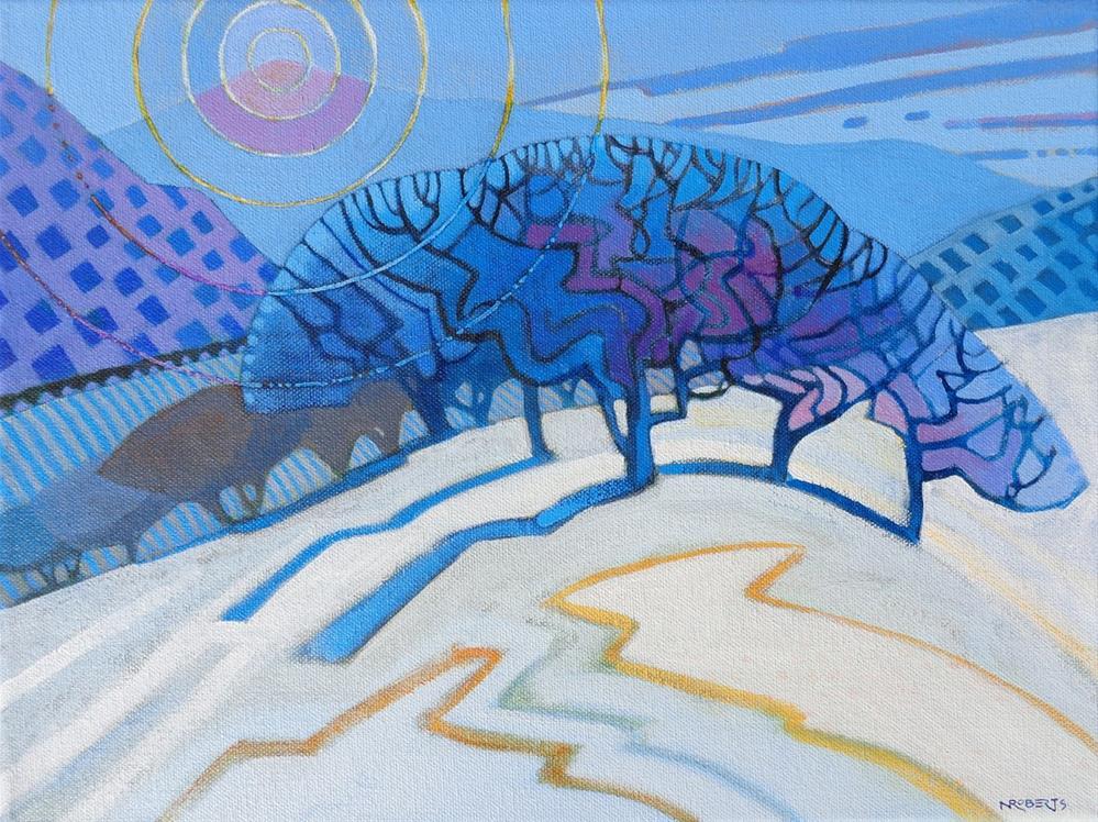 """North Peak Rhythms"" original fine art by Nancy Roberts"