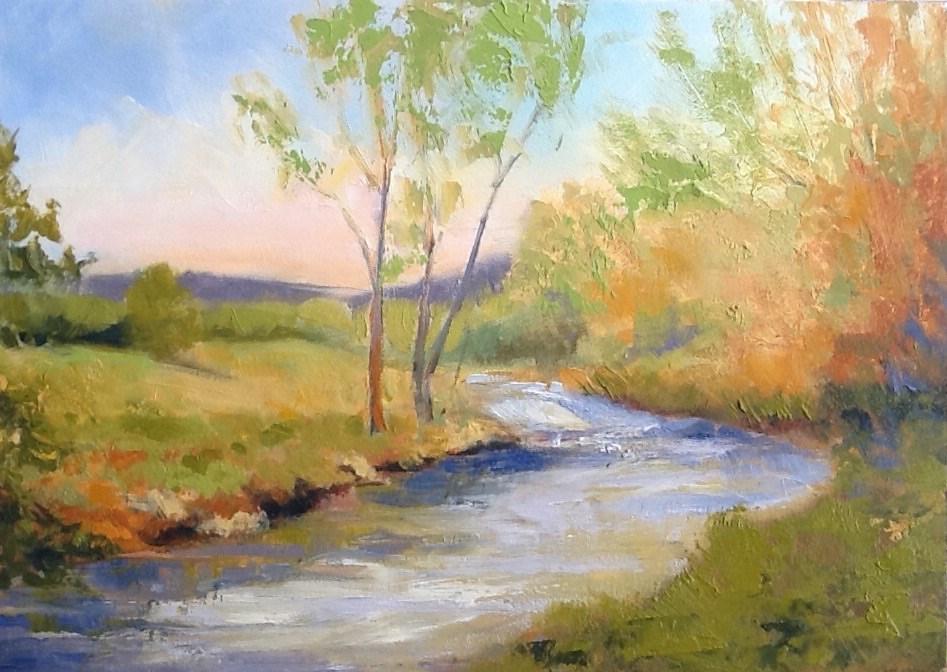 """""""Southside Creek"""" original fine art by Jean Fitzgerald"""