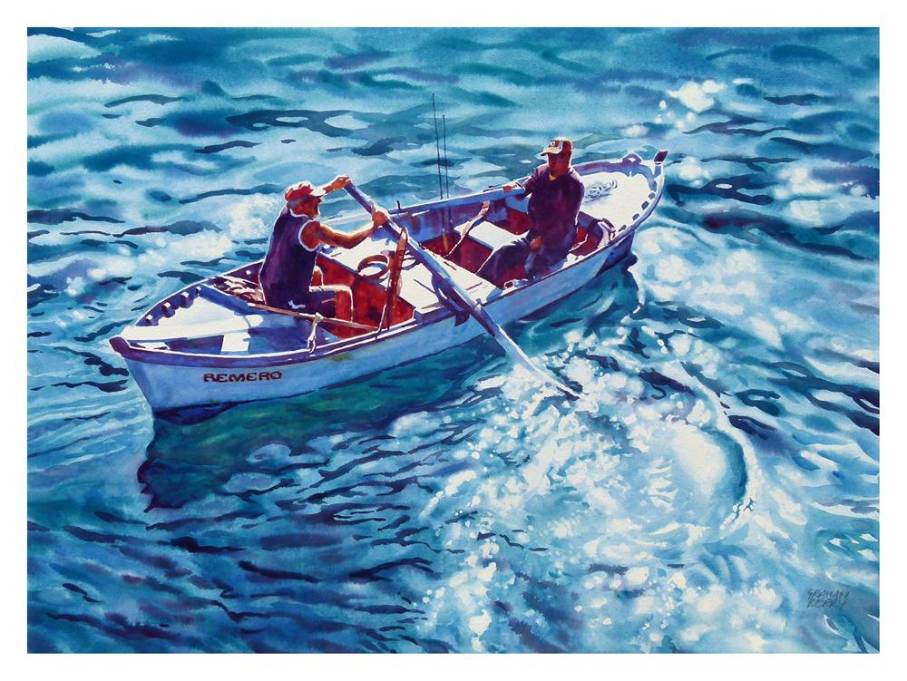 """Going fishing."" original fine art by Graham Berry"
