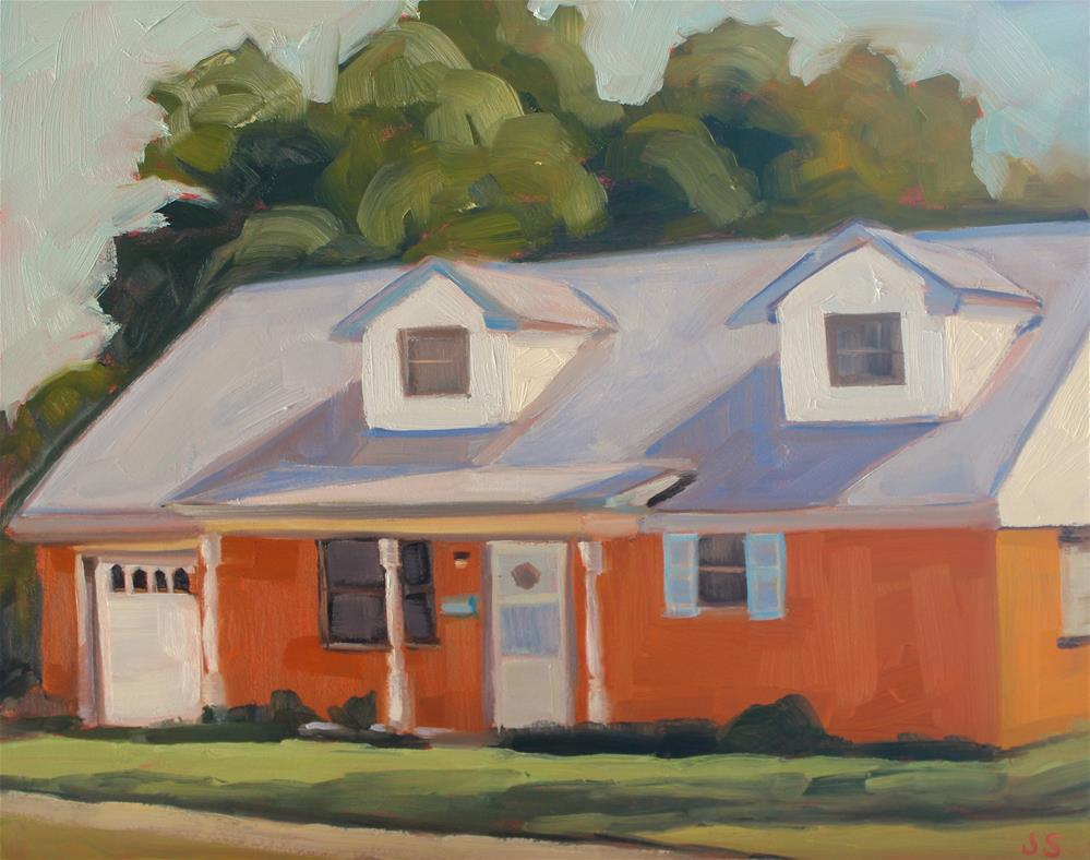 """Friend's Childhood Home"" original fine art by Jamie Stevens"