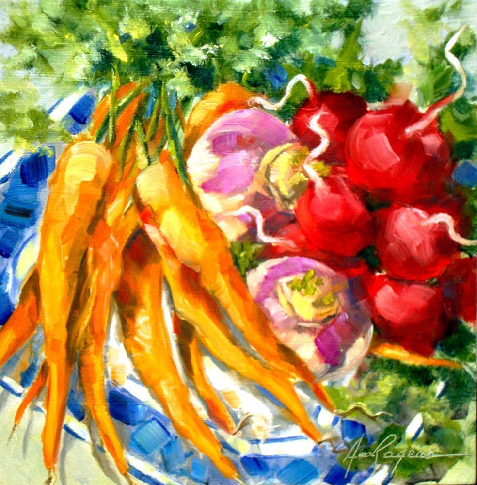 """Veggie Plate"" original fine art by Ann Rogers"