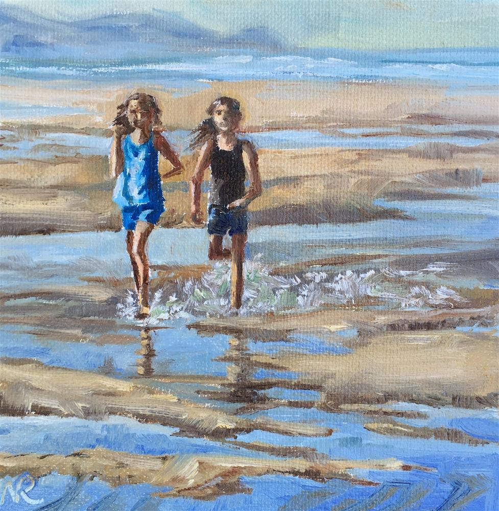 """Enjoying last days of summer"" original fine art by Natasha Ramras"
