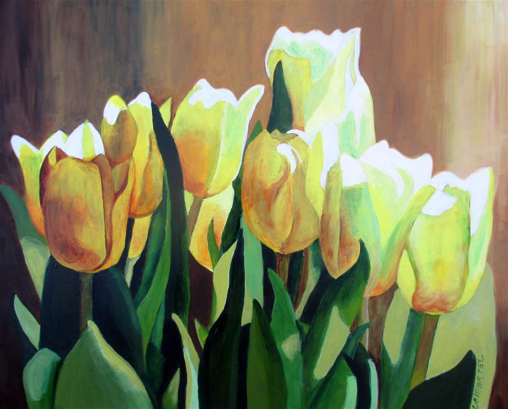 """Yellow Tulips"" original fine art by Lisa Wiertel"