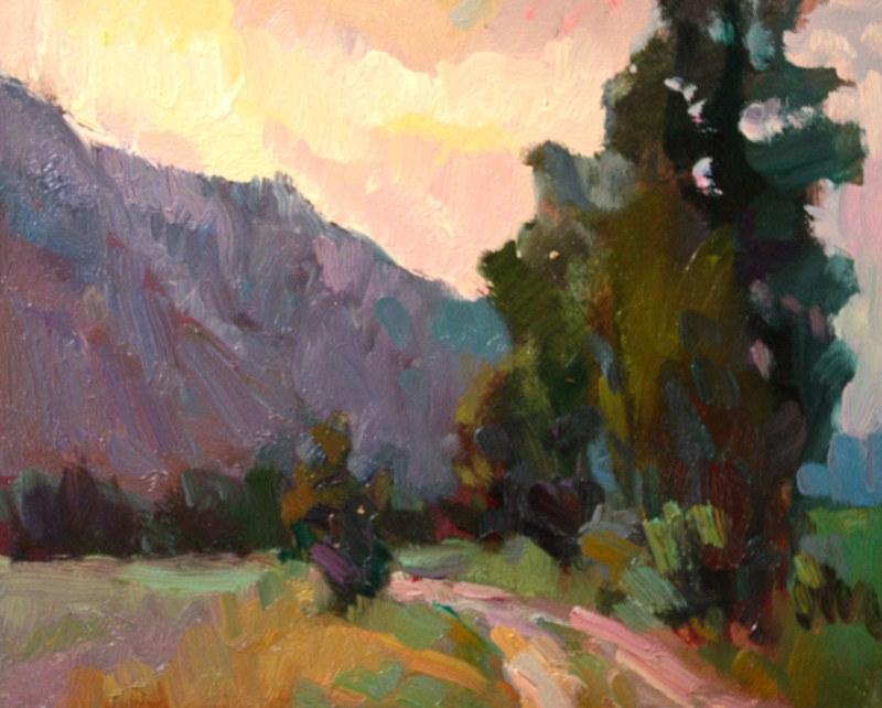 """Methow Valley"" original fine art by Kathryn Townsend"
