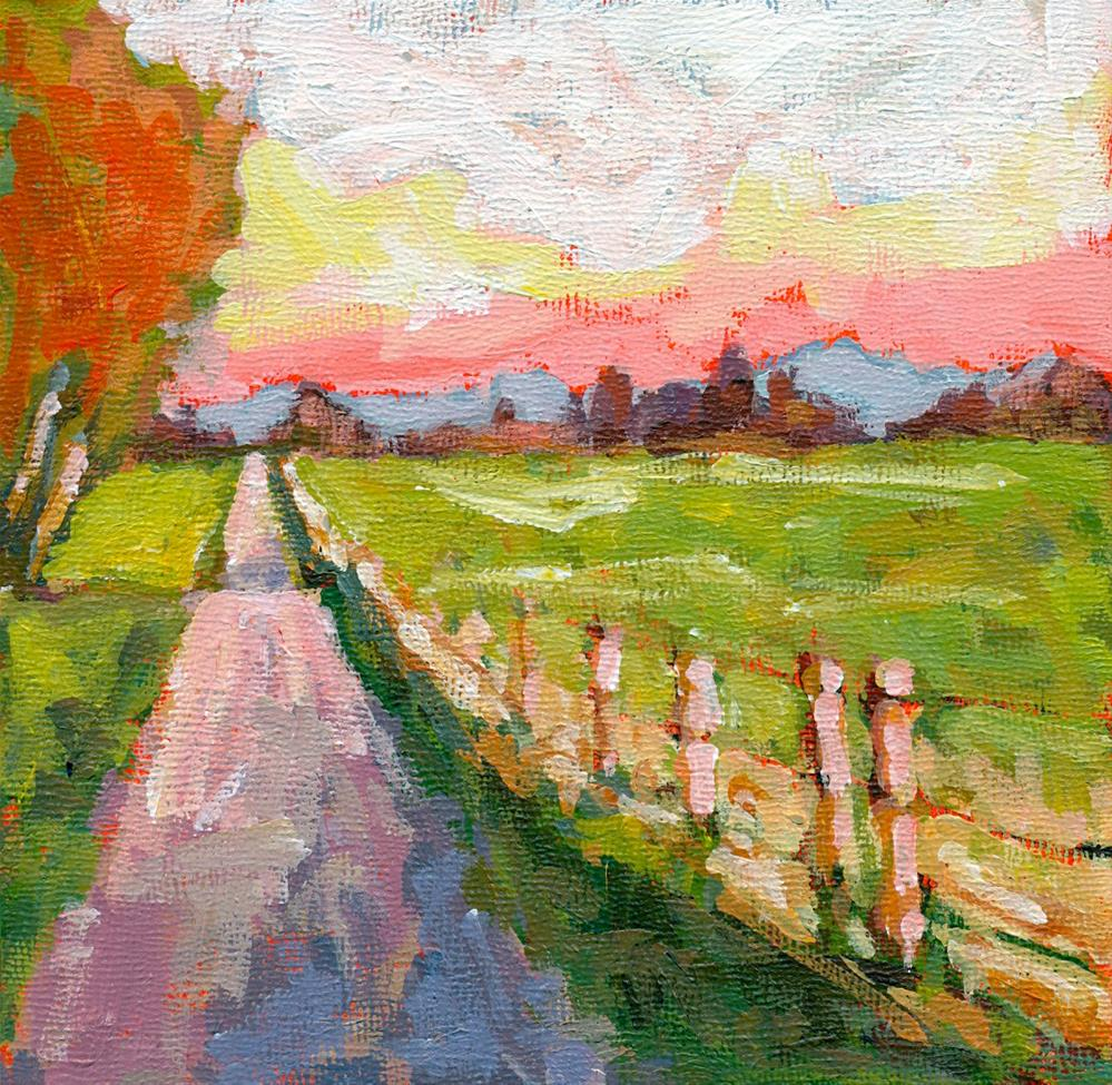 """happy trails"" original fine art by Shelley Garries"