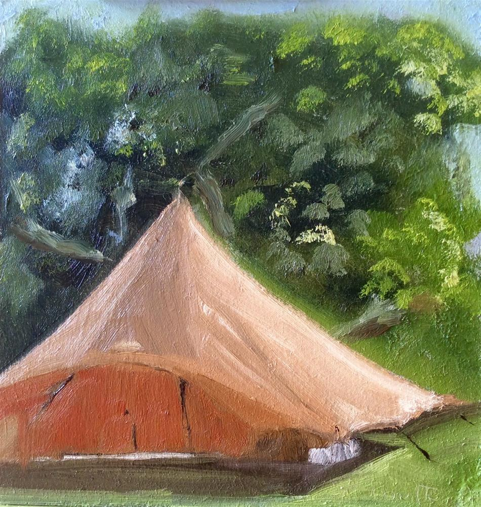 """Susie's Tent"" original fine art by Robin Coutts"