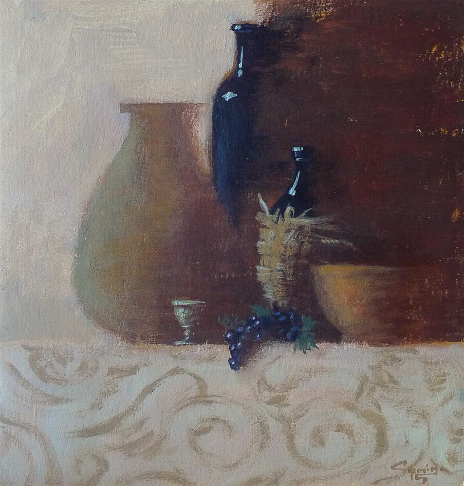 """""""Day Still Life"""" original fine art by Elena Senina"""