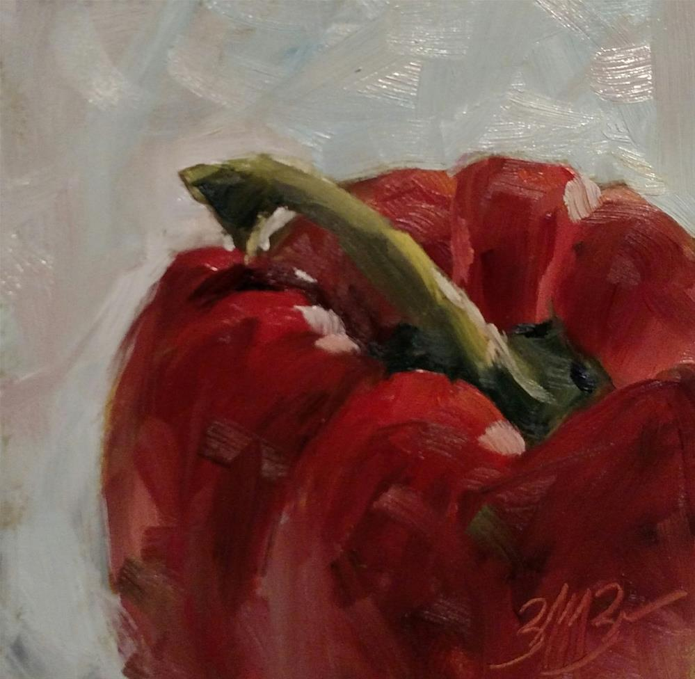 """Big Red"" original fine art by Brienne M Brown"