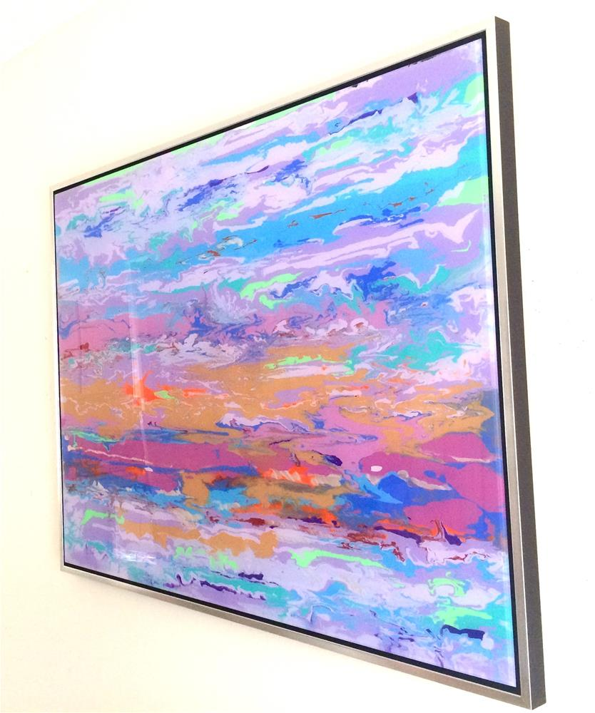 """Abstract painting, large size handmade art, Painting on plexiglass, one of a kind"" original fine art by V Y"