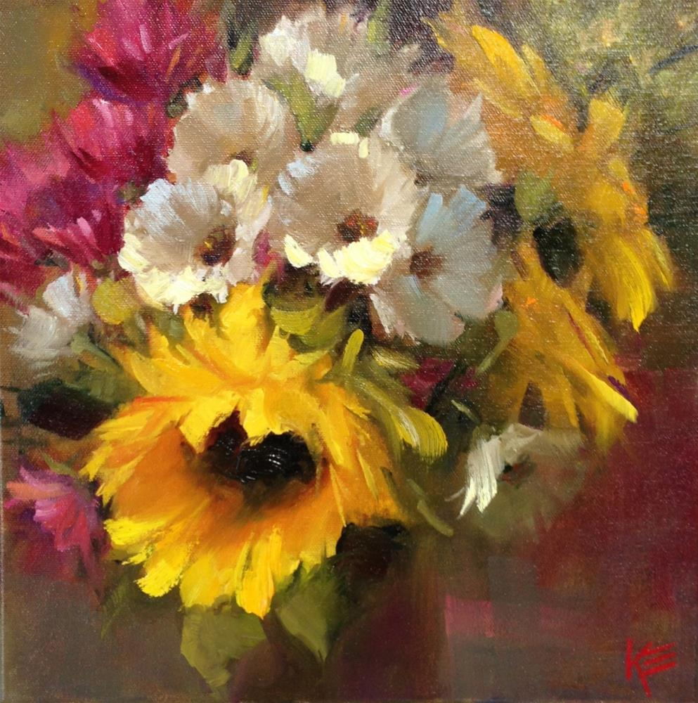 """Sunshine  Bouquet"" original fine art by Krista Eaton"