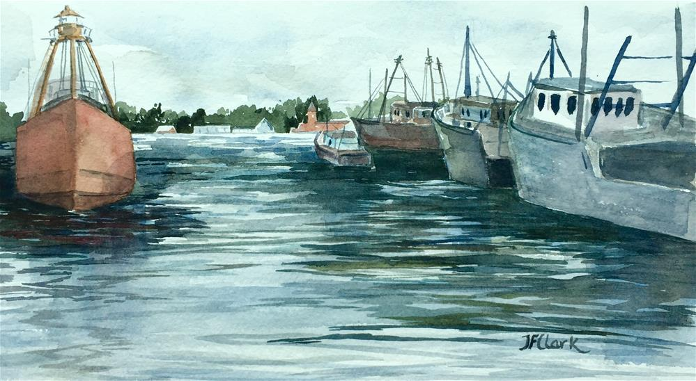 """""""Looking toward Fairhaven"""" original fine art by Judith Freeman Clark"""