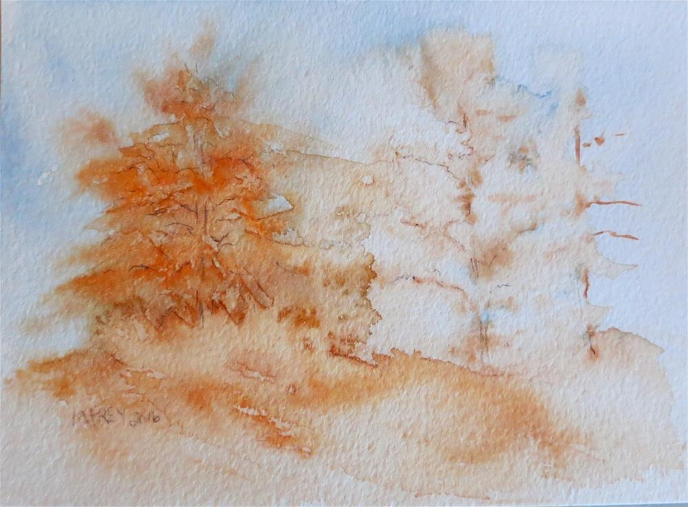"""Landscape 0140"" original fine art by Michelina Frey"