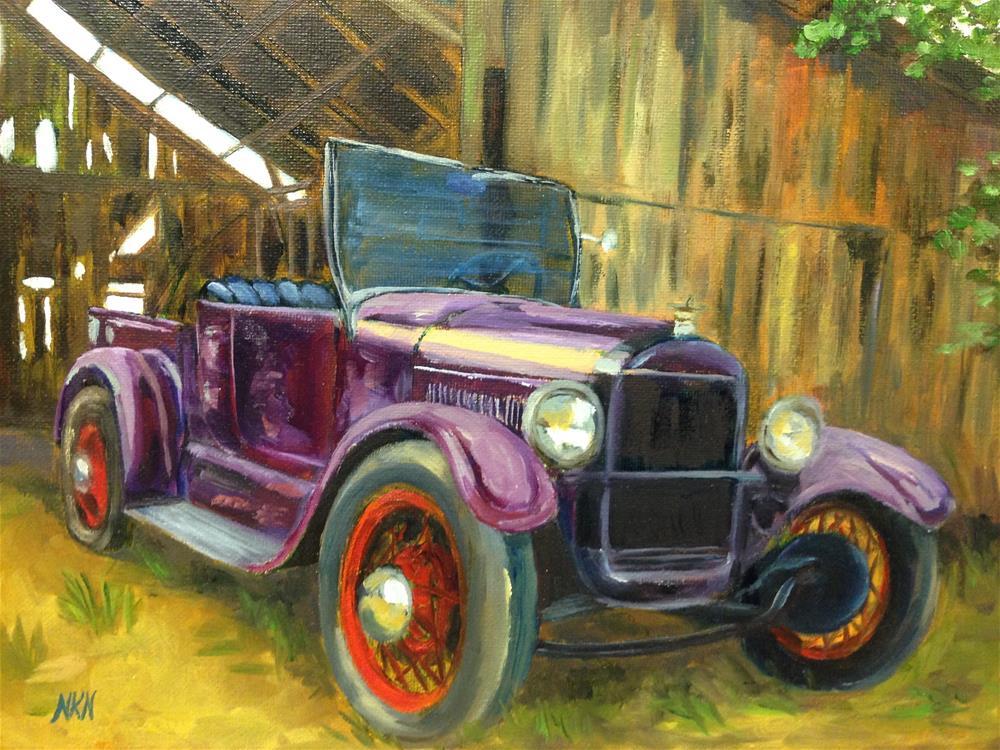 """""""1927 FORD ROADSTER"""" original fine art by Nina K. Nuanes"""