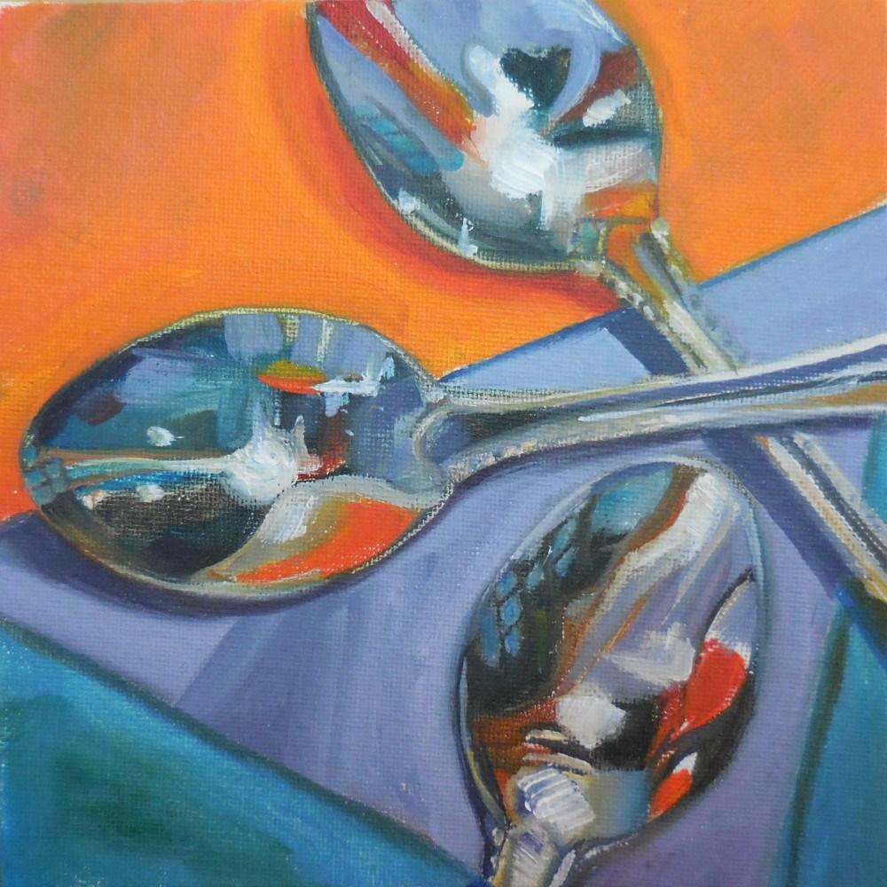 """""""Spoons A-Mok"""" original fine art by Beth Moreau"""