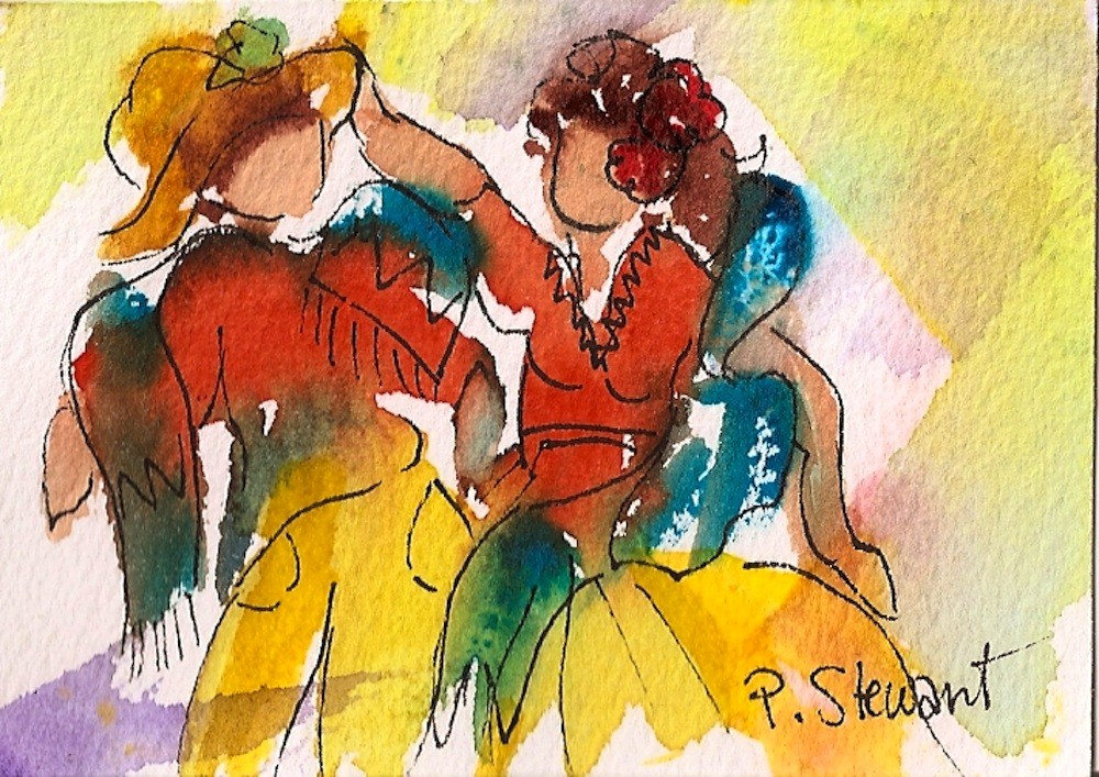 """ACEO South of the Border"" original fine art by Penny Lee StewArt"