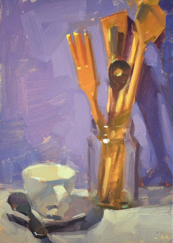 """""""Wood in a Jar"""" original fine art by Carol Marine"""