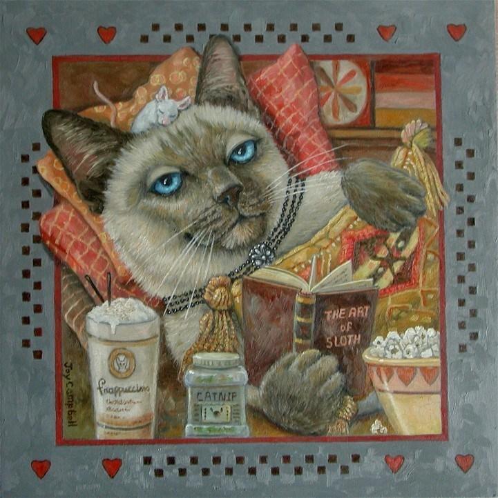 """The Art of Sloth"" original fine art by Joy Campbell"