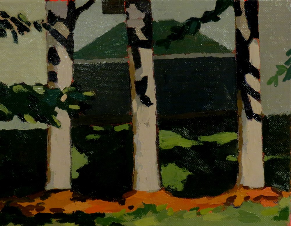 """Pine Row"" original fine art by Joan Wiberg"