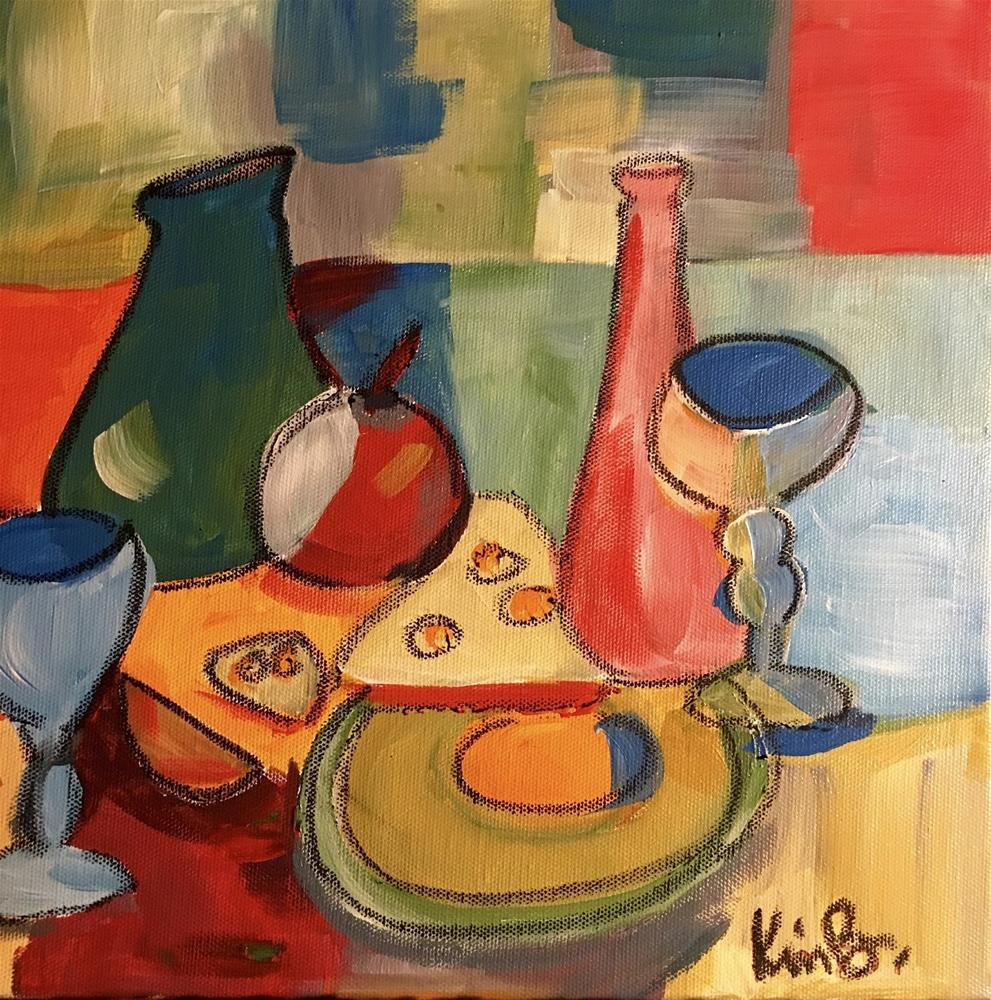 """Cezanne Happy Hour"" original fine art by Kimberly Balentine"