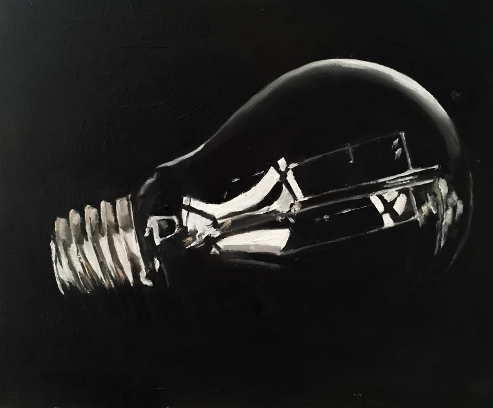 """Light Bulb"" original fine art by James Coates"