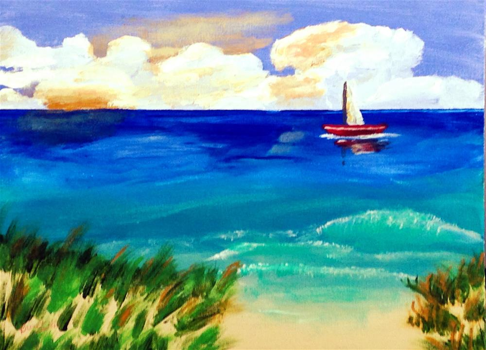 """Sailing the Tropics"" original fine art by Brenda Smith"