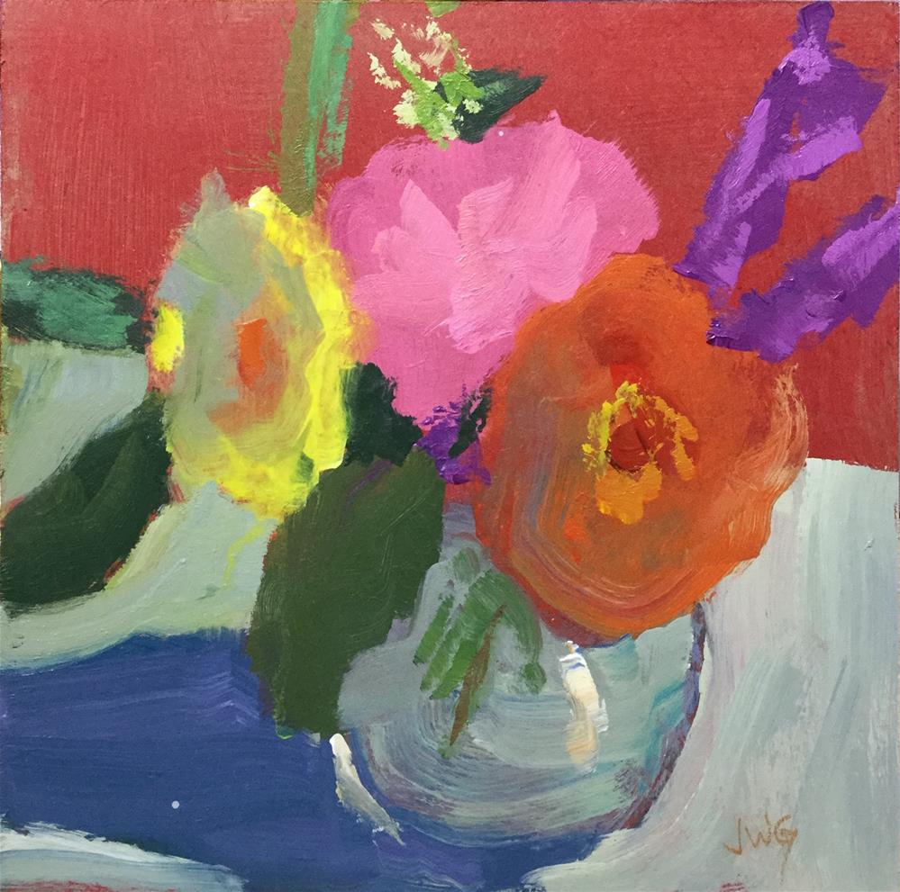 """""""Bouquet"""" original fine art by Jean Gregory"""