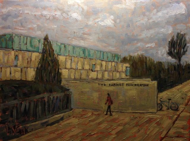 """The Barnes Foundation"" original fine art by William Cook"