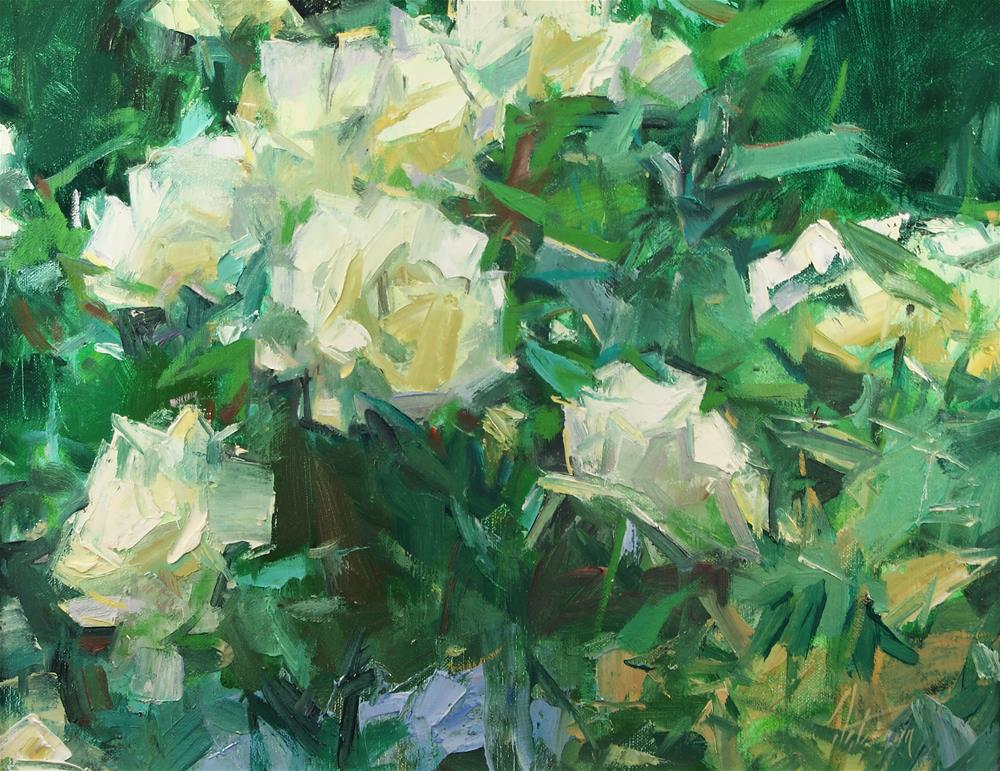 """Yellow Roses"" original fine art by Mike Peterson"