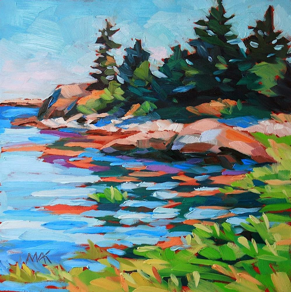 """A Day on Vinalhaven"" original fine art by Mary Anne Cary"