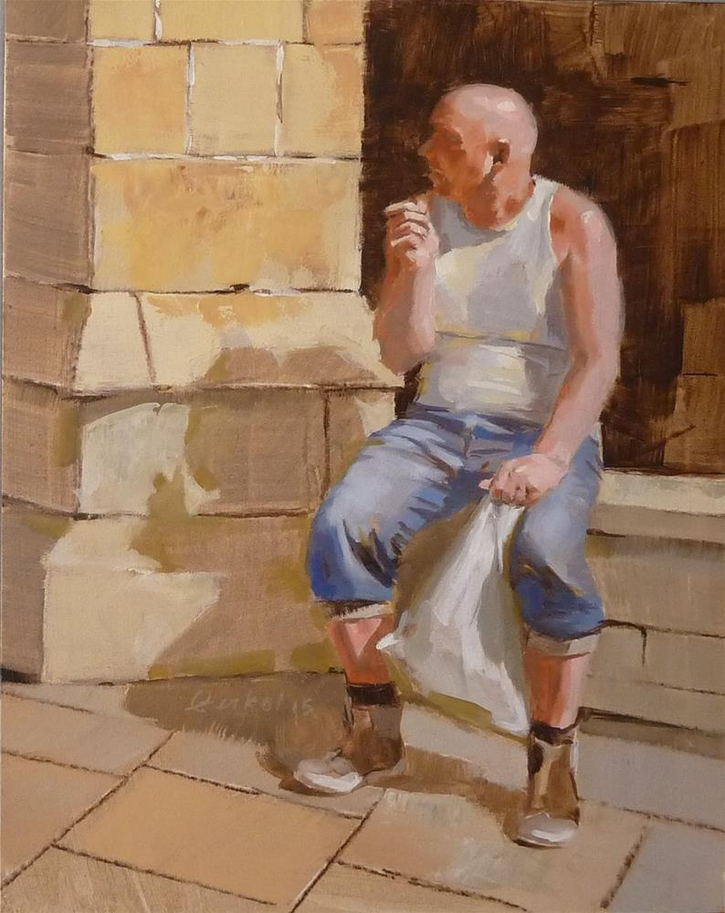 """Waiting"" original fine art by Ron Ferkol"