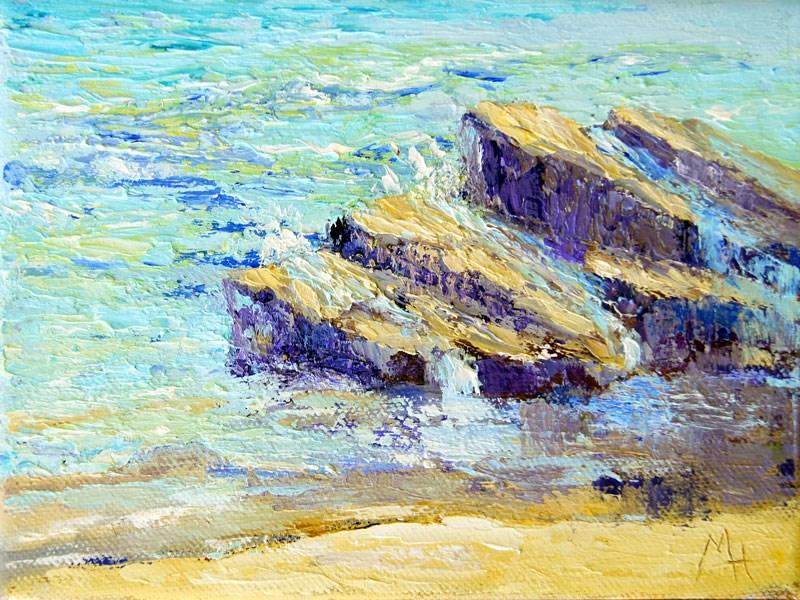 """""""Gentle Waves"""" original fine art by Marion Hedger"""