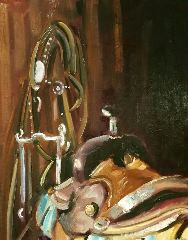 """The Tack Room"" original fine art by Nan Perry"