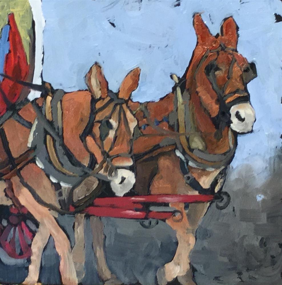 """Pancho and Leftie"" original fine art by Judy Elias"